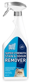 OUT! SUPER STRENGHT STAIN & ODOUR REMOVER 500 ML