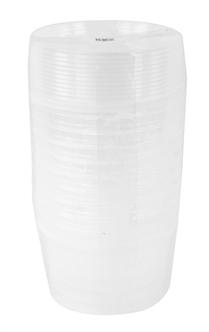EMMER ROND MET DEKSTEL 870 ML 10 ST